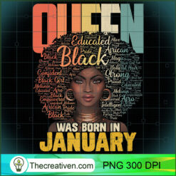 January Queen African American Capricorn Aquarius Premium PNG, Afro Women PNG, Aquarius Queen PNG, Black Women PNG