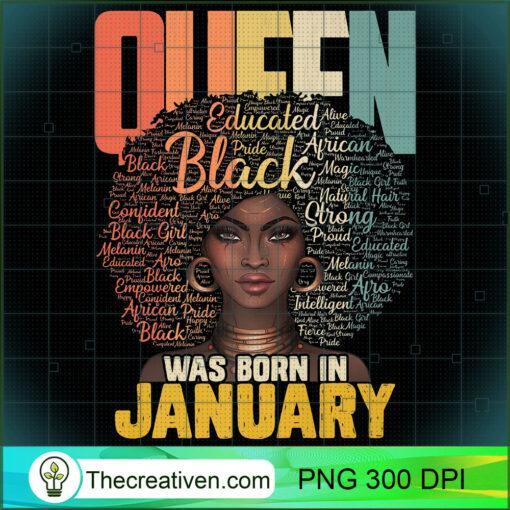 January Queen African American Birthday Capricorn Aquarius Premium T Shirt copy