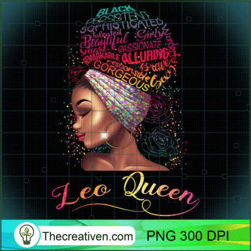 Leo Queen Afro Women July August Zodiac Melanin Birthday Pullover Hoodie copy
