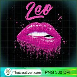 Leo Zodiac Pink Lips Black Women PNG, Afro Women PNG, Leo Queen PNG, Black Women PNG