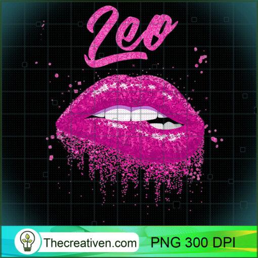 Leo Zodiac Birthday Pink Lips T Shirt for Black Women copy