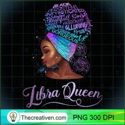 Libra Queen African Women BLM Cute Black Girl PNG, Afro Women PNG, Libra Queen PNG, Black Women PNG