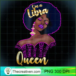 Libra Queen Astrology Sign Afro Black PNG, Afro Women PNG, Libra Queen PNG, Black Women PNG