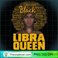 Libra Queen Black Woman Afro Natural Hair African American PNG, Afro Women PNG, Libra Queen PNG, Black Women PNG