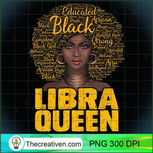 Libra Queen Black Woman Afro Natural Hair African American T Shirt copy