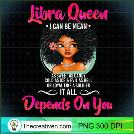 Libra Queen Shirt for Afro American Girls and Women T Shirt copy