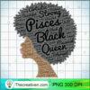 Pisces Black Queen Natural Hair Hoodie For Women copy
