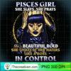 Pisces Girl She Slays She Prays Tshirt for Black Women T Shirt copy