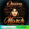 Pisces Girls Black Queen Best February March Birthday T Shirt copy