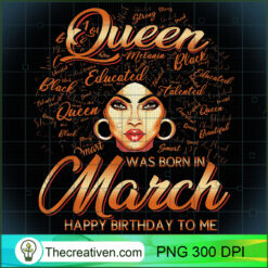 Pisces Girls Black Queen Best March Birthday PNG, Afro Women PNG, Pisces Queen PNG, Black Women PNG