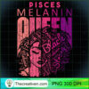 Pisces Melanin Queen Strong Black Woman Zodiac Horoscope Sweatshirt copy