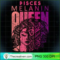 Pisces Melanin Queen Strong Black Woman Zodiac Horoscope PNG, Afro Women PNG, Pisces Queen PNG, Black Women PNG