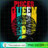 Pisces Pride Black Woman Afro Horoscope Zodiac Apparel Premium T Shirt copy