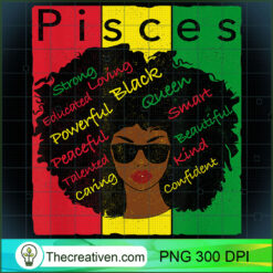Pisces Pride - Black Woman Afro Horoscope Zodiac PNG, Afro Women PNG, Pisces Queen PNG, Black Women PNG