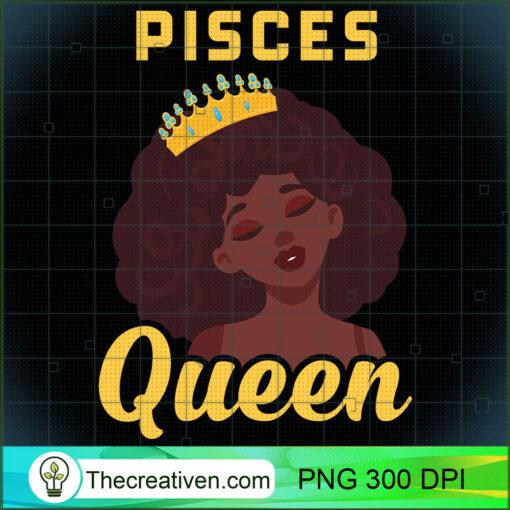 Pisces Queen Birthday Black Girl Gift Long Sleeve T Shirt copy