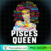 Pisces Queen Black Woman Afro Natural Hair African American T Shirt 1 copy