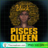 Pisces Queen Black Woman Afro Natural Hair African American T Shirt copy