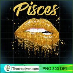 Pisces Zodiac Golden Lips Black Women PNG, Afro Women PNG, Pisces Queen PNG, Black Women PNG
