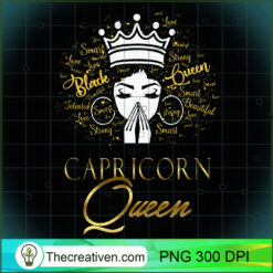 Praying Capricorn Queen Black Lives Matter Zodiac PNG, Afro Women PNG, Capricorn Queen PNG, Black Women PNG