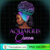 Purple Aquarius Queen African American January February T Shirt copy