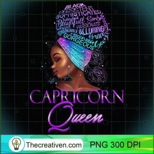Purple Capricorn Queen African American December January T Shirt copy