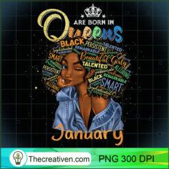 Queens Are Born In January Black Girl Aquarius Pisces PNG, Afro Women PNG, Pisces Queen PNG, Black Women PNG