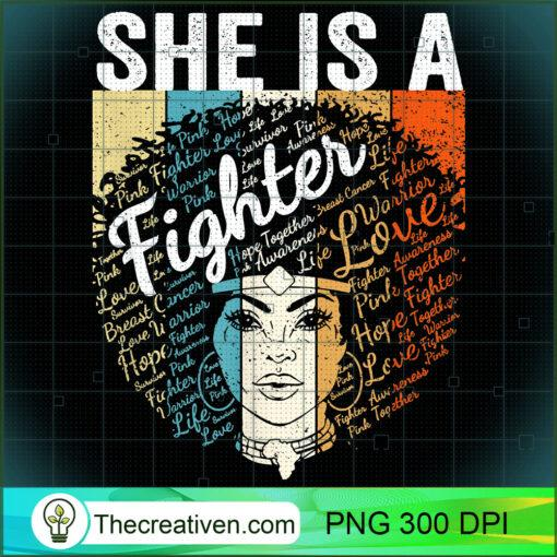 Retro Breast Cancer Shirt Women Black Queen She Is A Fighter T Shirt copy
