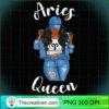 Streetwise Aries Black Queen Afro Womens Zodiac Birthday Long Sleeve T Shirt copy