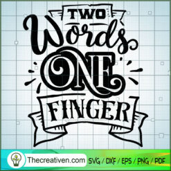 Two words one finger copy
