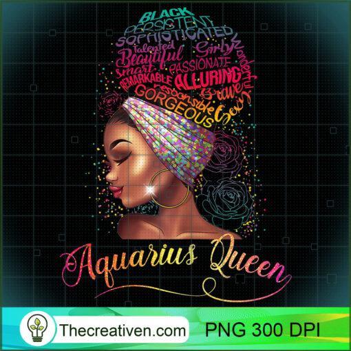 Womens Aquarius Queen Afro Women January February Melanin Birthday T Shirt copy