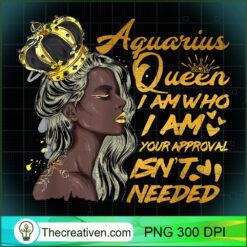 Womens Aquarius Queen Zodiac Gift Black Women PNG, Afro Women PNG, Aquarius Queen PNG, Black Women PNG