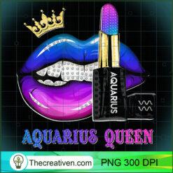 Womens Aquarius Queen Biting Lips Funny February PNG, Afro Women PNG, Aquarius Queen PNG, Black Women PNG