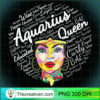 Womens Aquarius Queen Gift Black Women January February Aquarius V Neck T Shirt copy