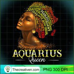 Womens Aquarius Queen Womens Birth Date Symbol Zodiac Afro PNG, Afro Women PNG, Aquarius Queen PNG, Black Women PNG