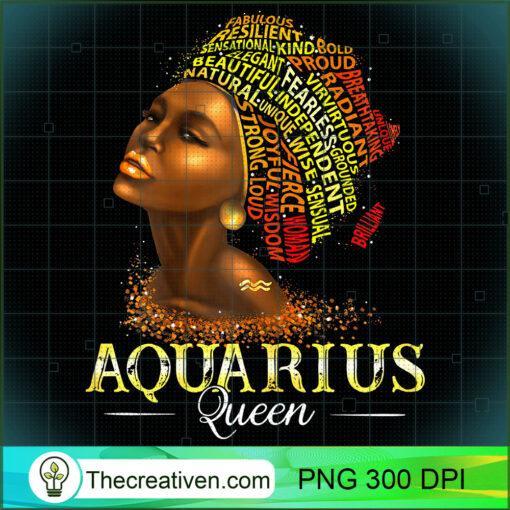 Womens Aquarius Queen Womens Birth Date Symbol Zodiac Afro Birthday T Shirt copy