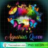 Womens Aquarius Queens Lips Hippie Birthday Gift For Women Girls Tank Top copy