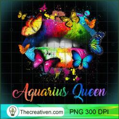 Womens Aquarius Queens Lips Hippie For Women Girls PNG, Afro Women PNG, Aquarius Queen PNG, Black Women PNG