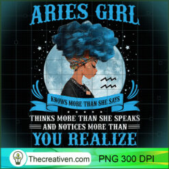 Womens Aries Girls Black Queen March April PNG, Afro Women PNG, Aries Queen PNG, Black Women PNG