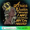Womens Aries Queen Birthday Zodiac Gift Black Women Gift Gir T Shirt copy