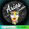 Womens Aries Queen Black Woman Birthday Gift Aries Black Queen V Neck T Shirt copy