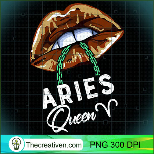 Womens Aries Queen Lips Sexy Black Afro Queen March April Womens T Shirt copy