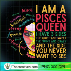 Womens Pisces Zodiac Women Black Girl Magic Afro PNG, Afro Women PNG, Pisces Queen PNG, Black Women PNG