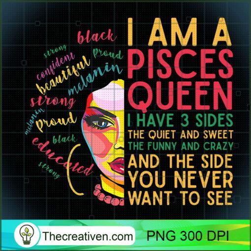 Womens Birthday Gifts for Pisces Zodiac Women Black Girl Magic Afro T Shirt copy