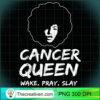 Womens Black Cancer Queen Zodiac Gift Wake Pray Slay For Women V Neck T Shirt copy