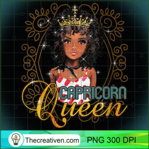 Womens Black Queen Birthday Gift Horoscope Zodiac CAPRICORN V Neck T Shirt copy
