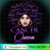 Womens Cancer Girl Womens Purple Afro Queen Black Zodiac Birthday T Shirt copy
