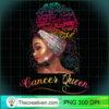Womens Cancer Queen Afro Women June July Zodiac Melanin Birthday T Shirt copy