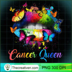 Womens Cancer Queens Lips Hippie For Women Girls PNG, Afro Women PNG, Cancer Queen PNG, Black Women PNG