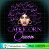 Womens Capricorn Girl Womens Purple Queen Black Zodiac Birthday T Shirt copy