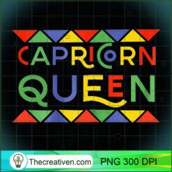 Womens Capricorn Queen Birthday Black African Pride Zodiak PNG, Afro Women PNG, Capricorn Queen PNG, Black Women PNG